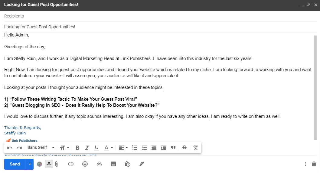 Guest Post Pitch